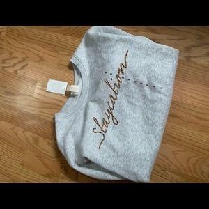 H&M staycalm cheetah sweatshirt